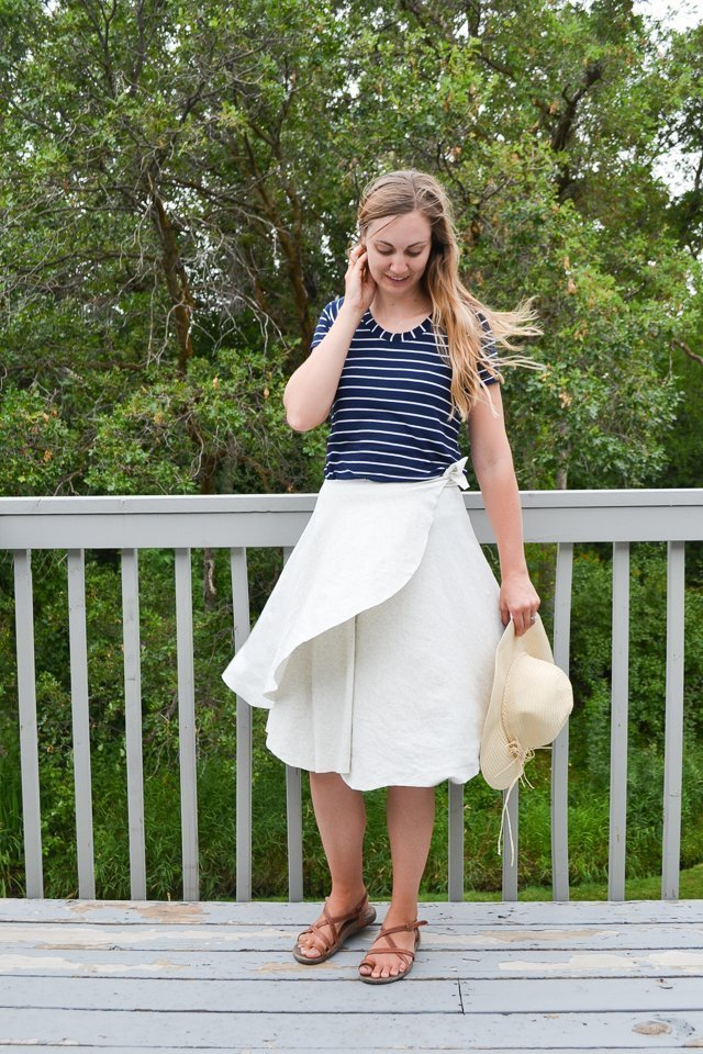 easy wrap skirt