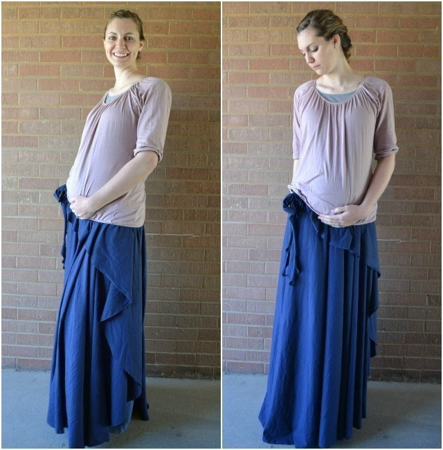 "Tutorial: Adjustable One-Seam ""No-Flashing"" Wrap Skirt"
