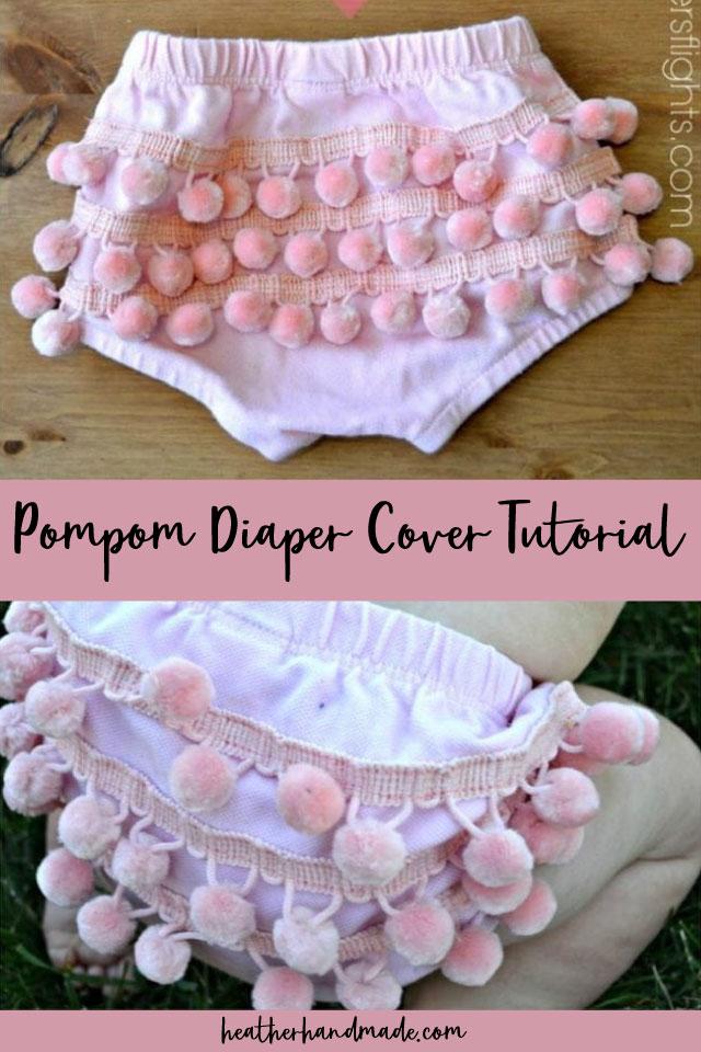 diy pompom diaper cover tutorial