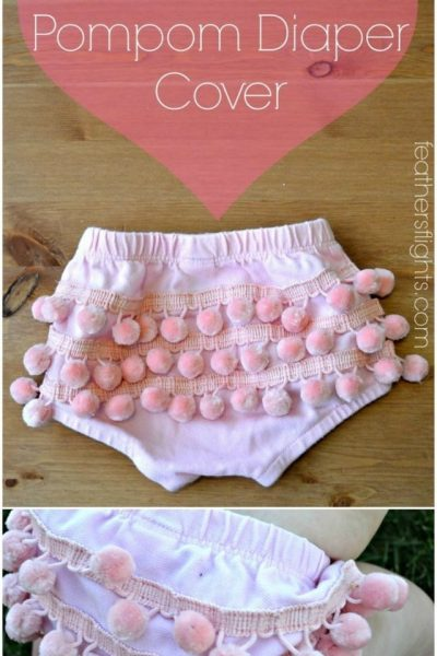Pompom Diaper Cover Tutorial // heatherhandmade.com