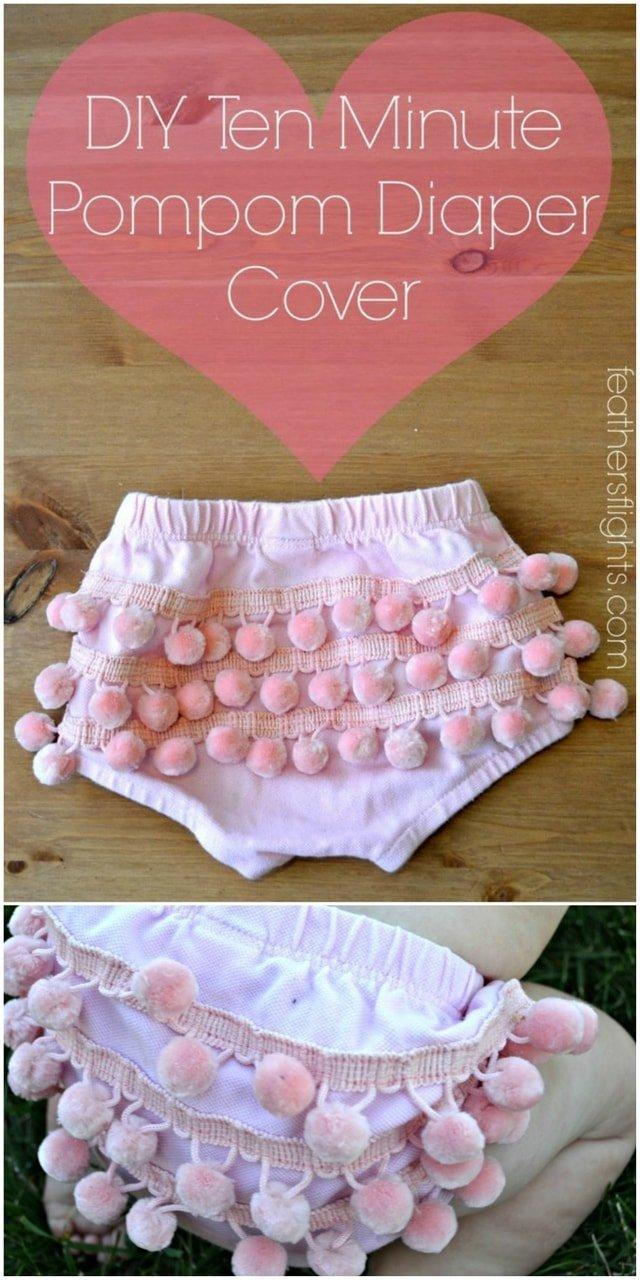 Pompom Diaper Cover Tutorial // heatherhandmade.com