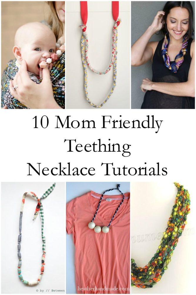 10 Mom Friendly Teething Necklace Tutorials