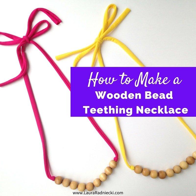 10 Mom Friendly Teething Necklace Tutorials // heatherhandmade.com