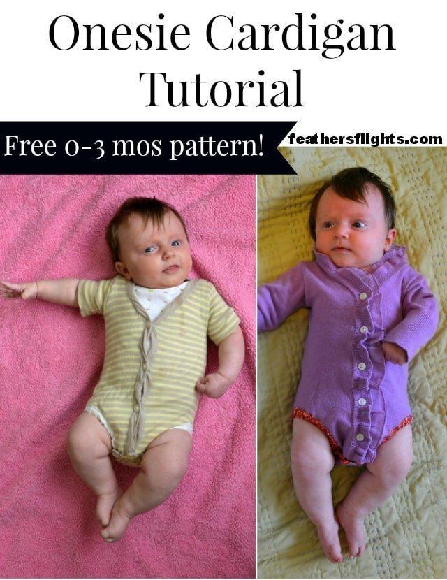 FREE Onesie Cardigan Pattern