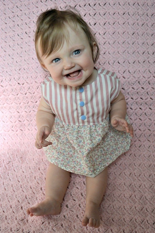 Floral and Striped Baby Outfit