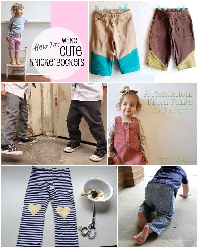 12 Pants Refashion Tutorials