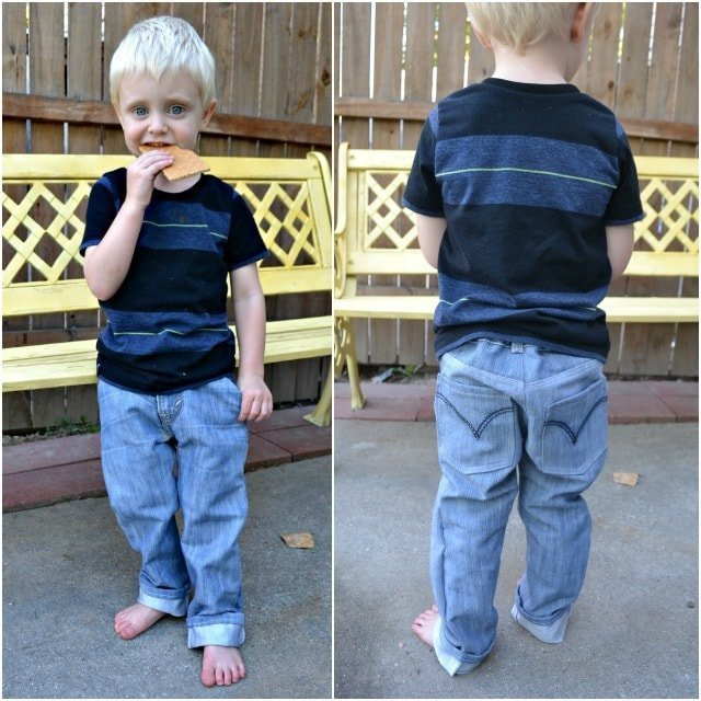 Entirely Upcycled Boy Outfit