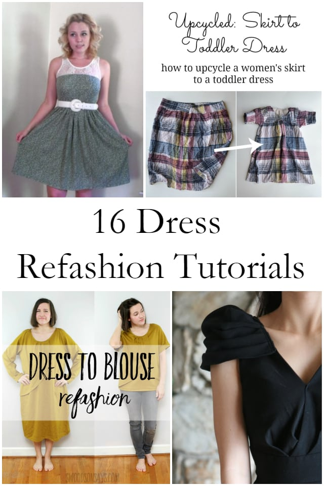 16 Dress Refashion Tutorials // heatherhandmade.com