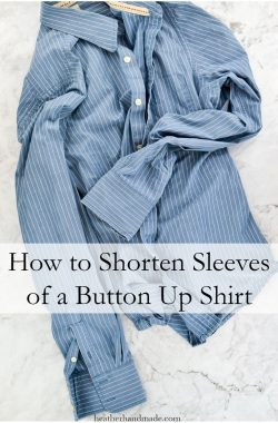 How to Shorten Sleeves // heatherhandmade.com