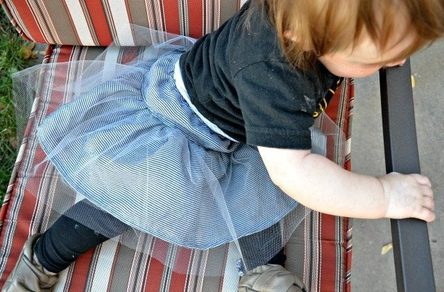 Fall/Winter Collection 2014: Striped Tulle Baby Skirt
