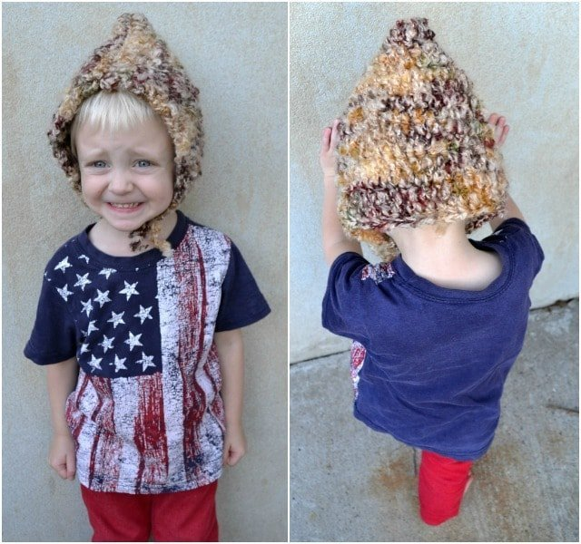 Crocheted Gnome Hat