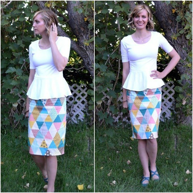 Me Made: Triangle Printed Pencil Skirt