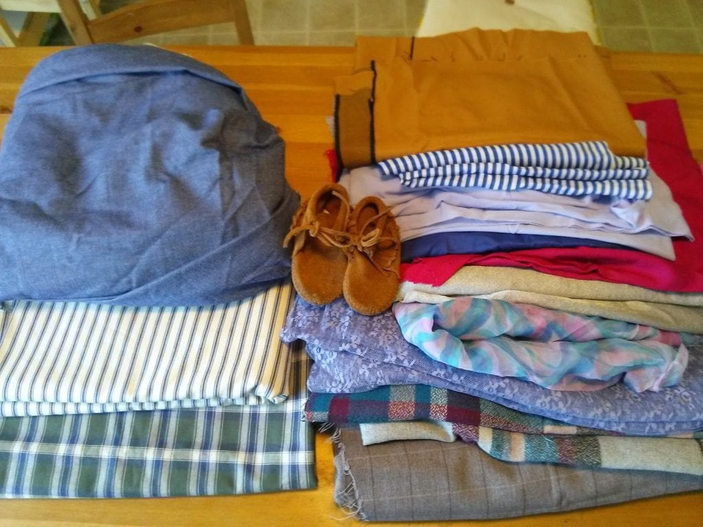Thrifted Fabric and A Story of Generosity