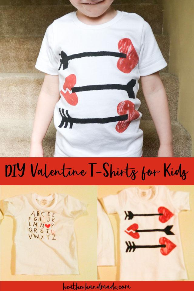 DIY Valentine T-Shirts for Kids