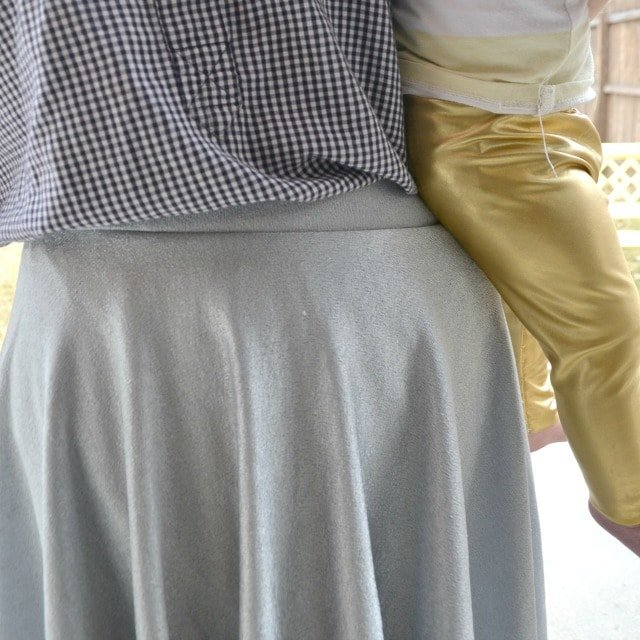Me Made: Metallic Silver Skater Skirt