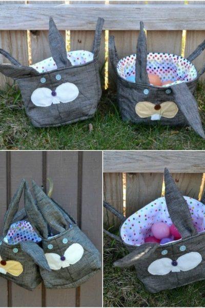 Handmade Easter Bunny Baskets // heatherhandmade.com