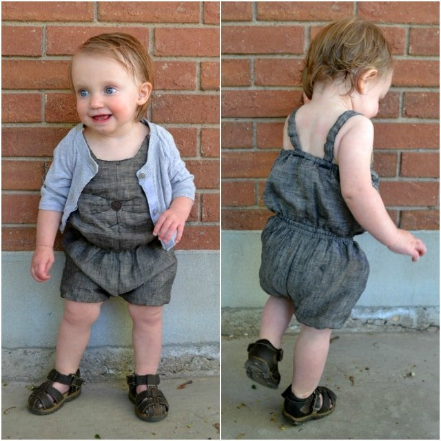 Sewing for the Baby: Baby Cat Romper