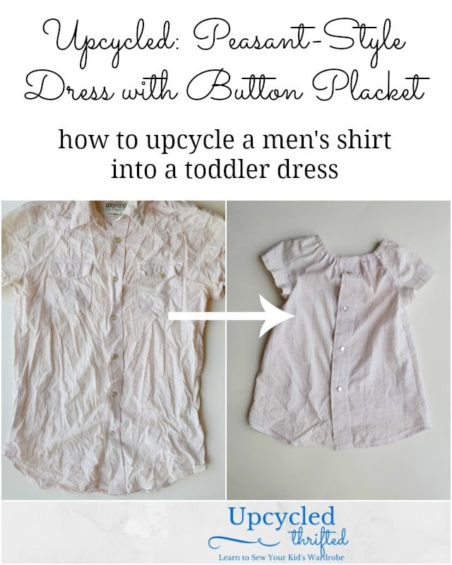 Peasant-Style Dress with Button Placket Tutorial