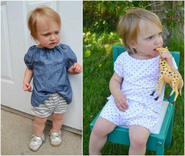 free baby shorts sewing pattern