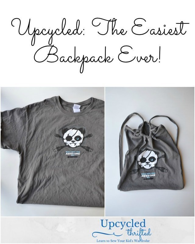How to Upcycle: The Easiest Backpack Ever // DIY - Free Sewing Pattern