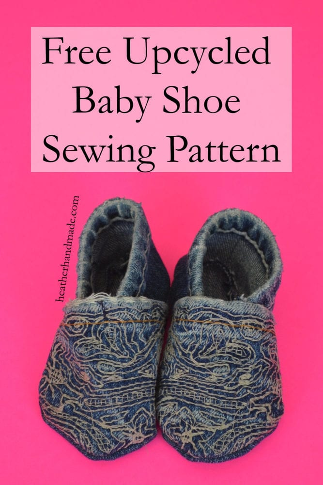 Free Upcycled Baby Shoe Sewing Pattern // heatherhandmade.com