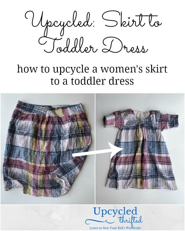 How to Upcycle a Skirt to a Dress