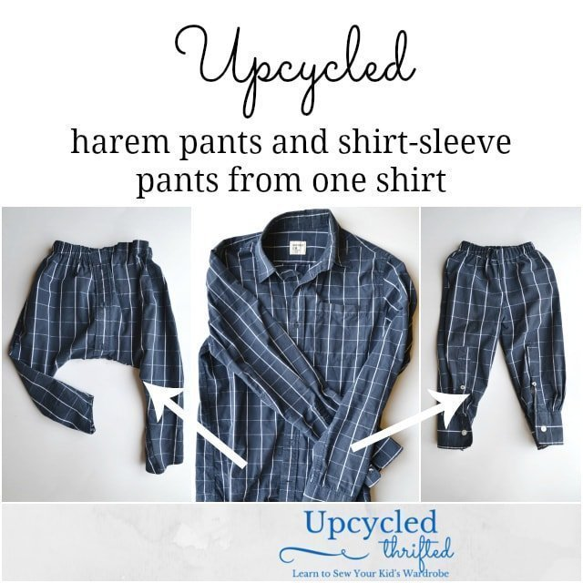 Upcycled: Two Pants From One Shirt