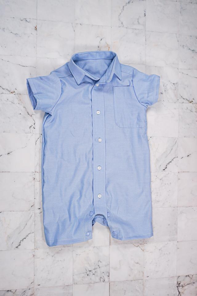 make men's shirt into baby romper