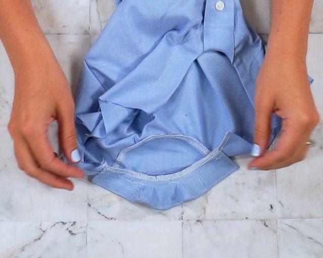 stitch seam allowance towards body