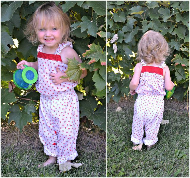 Sewing for the Girl: Strawberry Romper