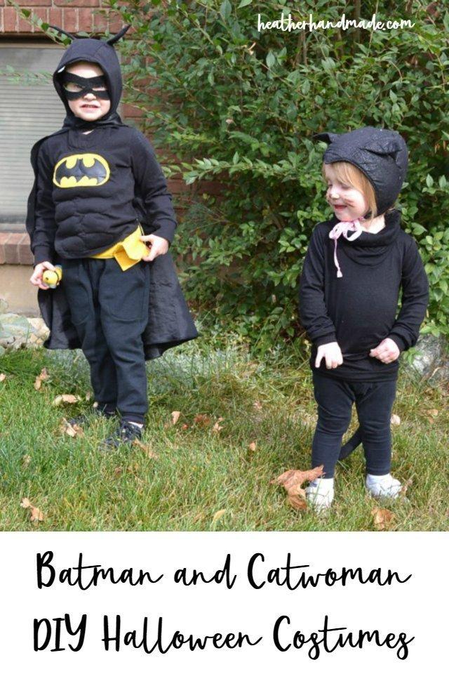Diy Halloween Costumes Batman And Catwoman Heather Handmade
