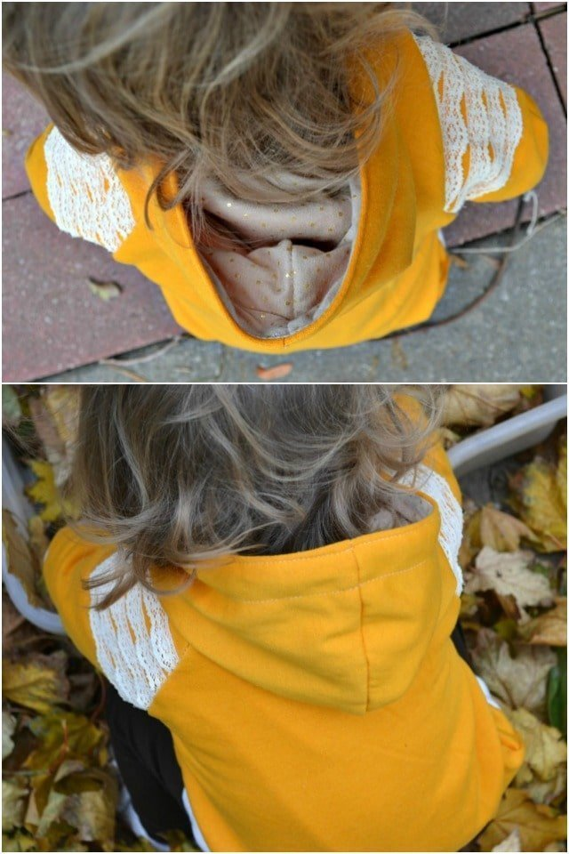 Sewing for the Girl: Lace Trimmed Sweatshirt