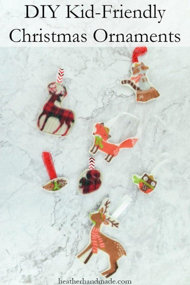 Kid-Friendly Christmas Ornament // heatherhandmade.com