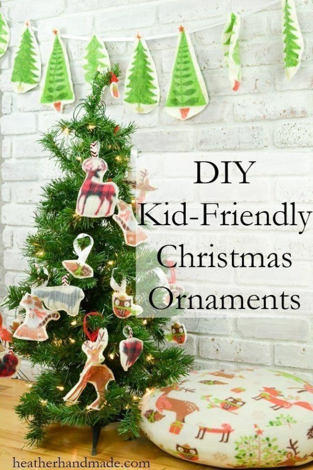 Kid-Friendly Christmas Ornament // heatherhandmade.com