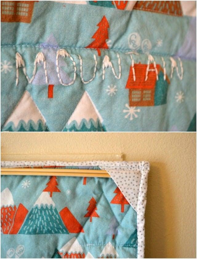 Climb Every Mountain Mini Quilt