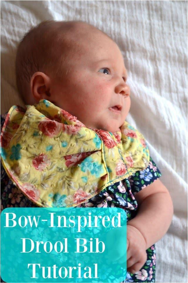 FREE PATTERN: Bow-Inspired Baby Drool Bib