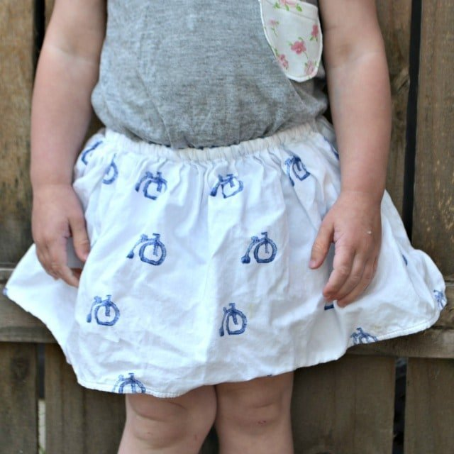 1 Fat Quarter Skirt Tutorial