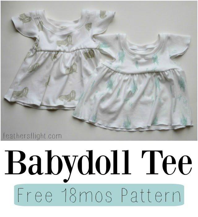 18 mos Babydoll Tee + Free Pattern