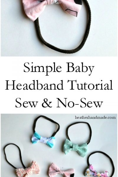 Baby Headband Tutorial // heatherhandmade.com