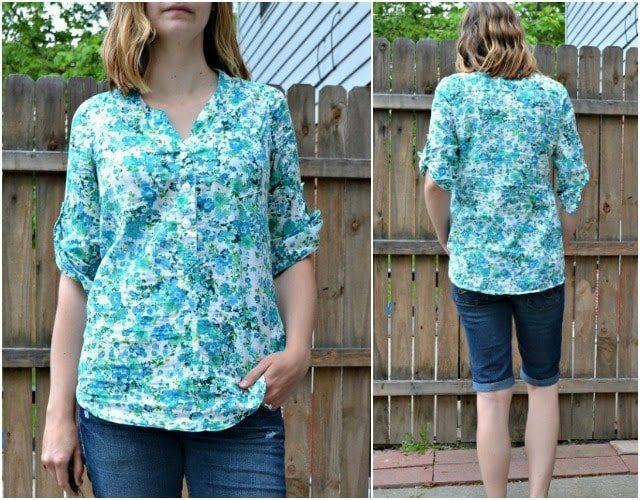 Me Made: Floral Lawn Cheyenne Tunic