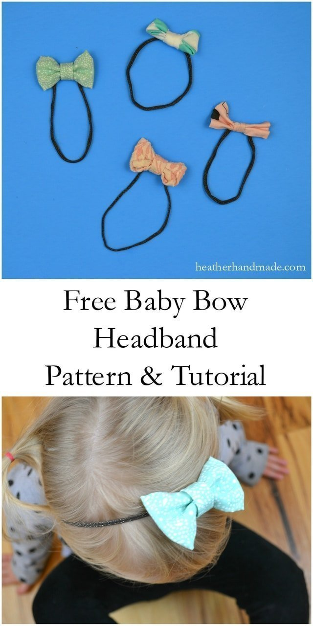 Simple Baby Headband Tutorial Sewn And No Sew Heather