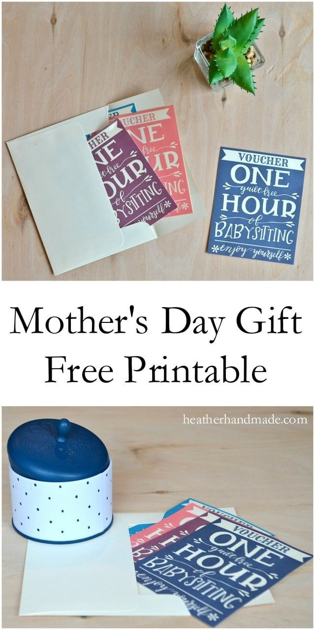Free Mother's Day Gift Printable // heatherhandmade.com