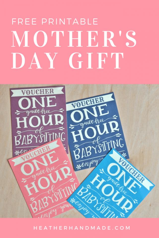Free Mother's Day Gift Printable // heatherhandmade.com
