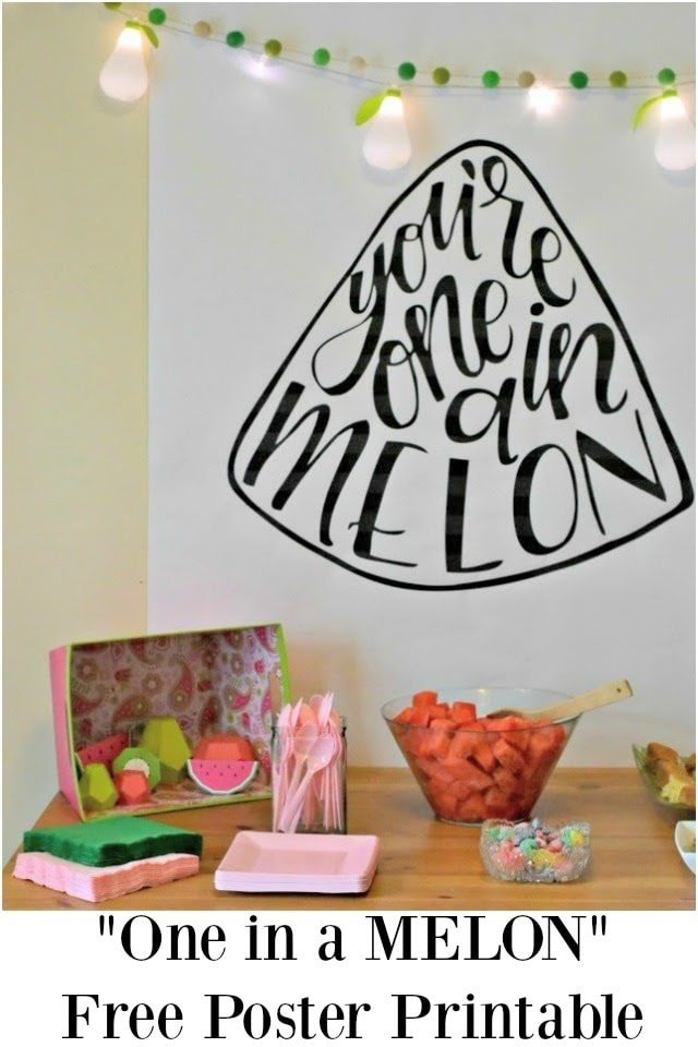 """""""One in a MELON"""" Party with Free Watermelon Printable"""