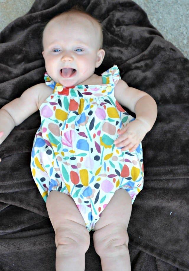 DIY Mod Floral Baby Romper