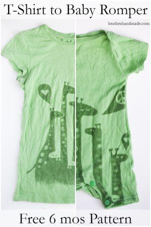 DIY baby t-shirt romper