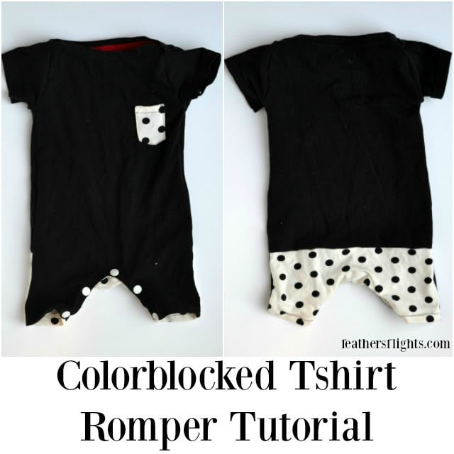 DIY Colorblocked Tshirt Romper Tutorial