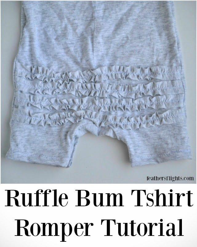 DIY Ruffle Bum Tshirt Romper Tutorial