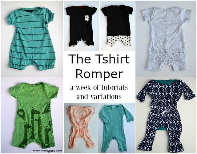DIY Drawstring Waist T-Shirt Romper Tutorial