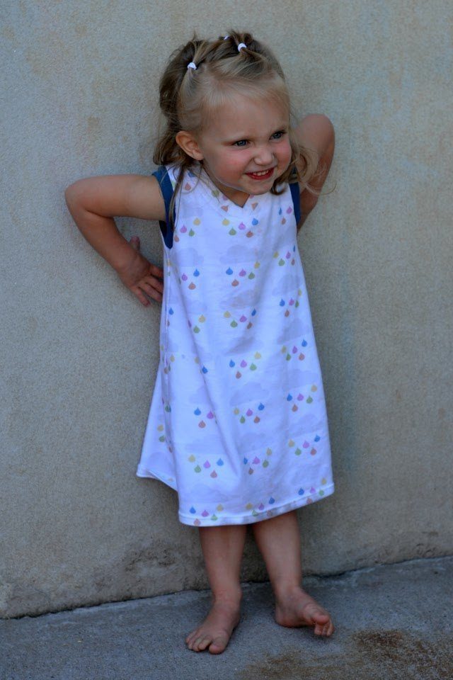 Sewing for the Girl: Upcycled Rain Dress